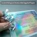 Hologram ultra destructible vinyl eggshell paper sheets