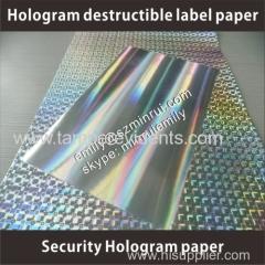 tamper proof holographic destructive vinyl