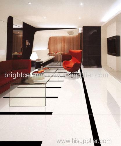 Full body super white polished tile in Foshan