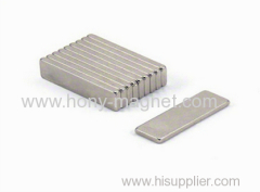 Block Neodymium Magnet Ni Coated Customize Size