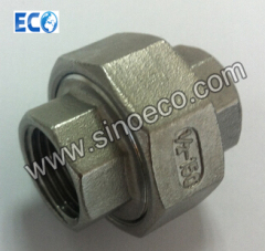 Threaded Female Union, BSPT, NPT, Stainless Steel 304 or 316 Screwed Union, Fitting