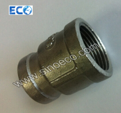 Female Reducer, Red Plug, Barrel Nipple, Stainless Steel Screw Fitting with Threaded Ends