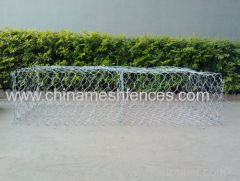 hot-dipped galvanized hexagonal gabion trapions