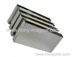 Sintered rare earth magnet block with factory price.