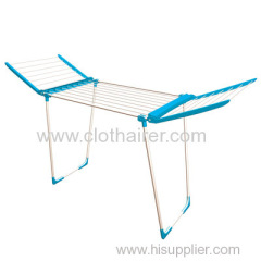 Powder Coating Steel Laundry Folding Clothes Drying Rack with Wings