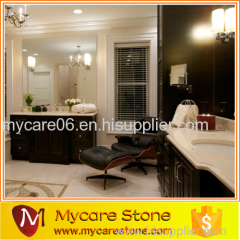 Quality approving marble crema marfil 2cm kitchen countertop