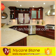 Customized design kitchen crema marfil countertop with high quality