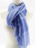 blue/light blue yarn dyed 100% viscose scarf