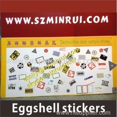 Graffiti printing eggshell stickers