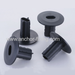 Dual Coaxial cable through wall protector bushing
