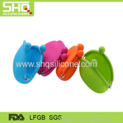 High quality customer design silicone coin bag