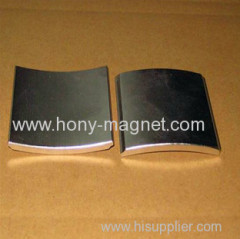 Neodymium Arc Magnet Coated With Ni Zn Epoxy