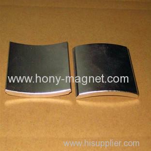 Neodymium Arc Magnet Coated With Ni Zn Epoxy