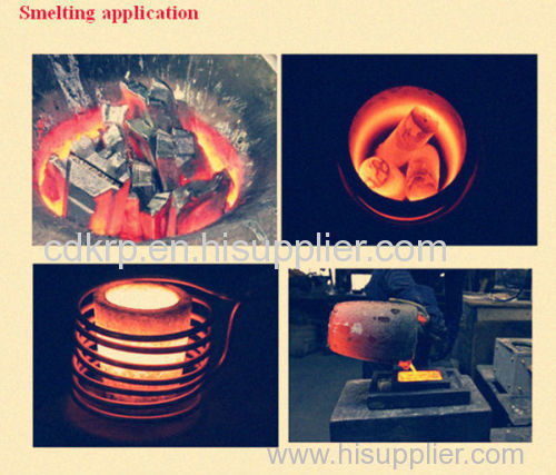 single phase 220V high frequency portable small 1kg 2kg gold melting furnace