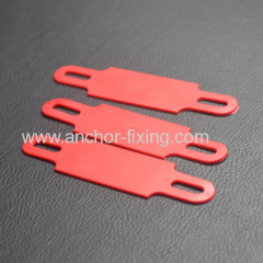 Cable Label in red PVC plastic