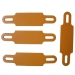 Coaxial cable marker tag in orange