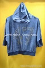 20%cotton 80%polyester women's hood leisure wear