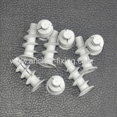 Plasterboard Fixing Plug in Grey White Made Polyamide Nylon