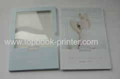 full color pack 4 saddle stitched softback books with window slipcase