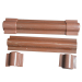 End Cap for Riser Guard in Brown and in Black for the cable line installation