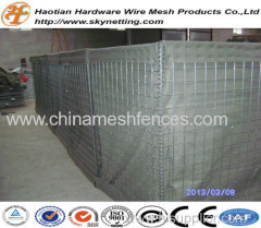 heavy hot dipped galvanized military barrier Hesco price galvanized welded square hole gabion portable flood hesco