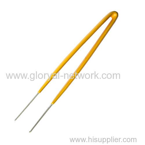 Yellow handle of Tweezers good quality