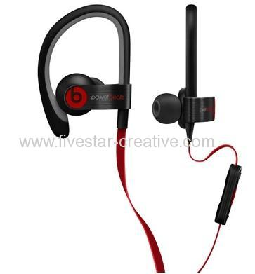 Beats By Dr.Dre Powerbeats2 Wired Black In-Ear Earbuds Headphones