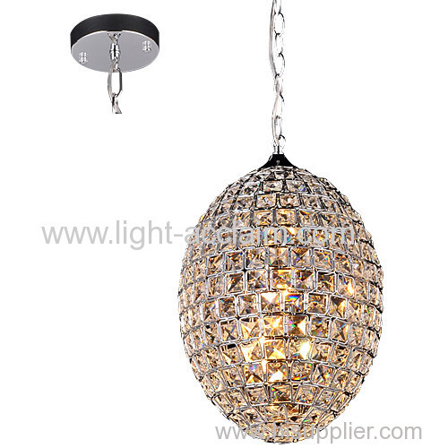 Egg shaped crystal ball Iron Chandelier modern minimalist restaurant decoration lighting semi flush ceiling lights