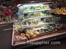 Commercial display fridge circle fridge with four side display open chiller