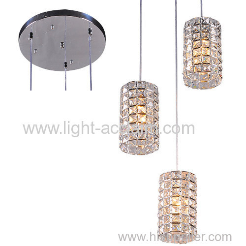 Circular crystal chandelier ceiling plate crystal living room ceiling lights Creative crystal lamp
