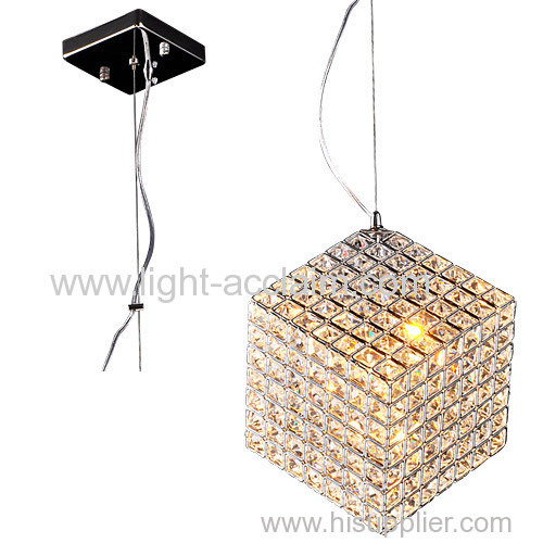 The three-dimensional crystal chandelier creative square crystal lamp LED crystal lamp