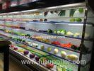 produce open multideck display fridge 10meter black color remote cooling system