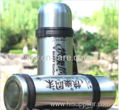 Double layer stainless steel vacuum insulation Cup large capacity outdoor travel airpots