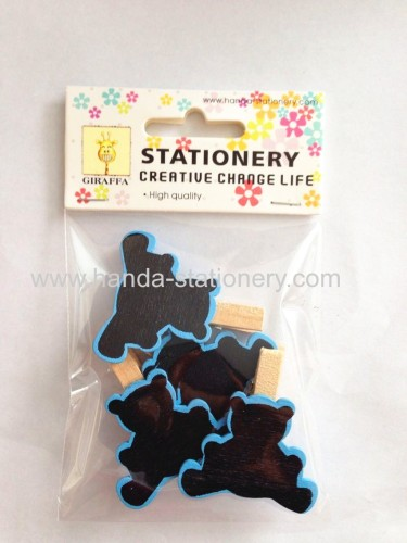 creative bear shape little blackboard