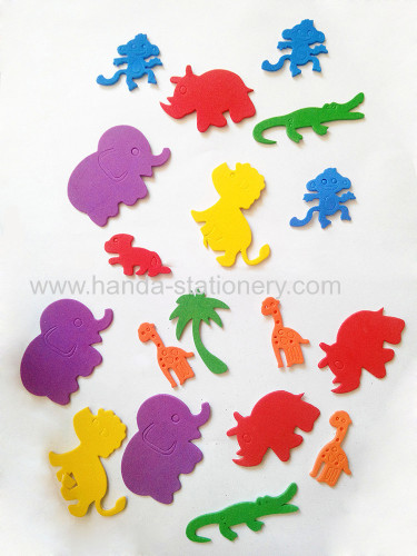 hot sell and lovely animal EVA Foam Sticker glitter letter alphabet