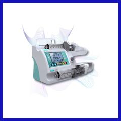 Double channel syringe pump