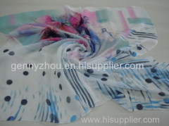 100% viscose digital printed scarf