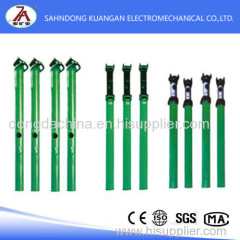 Double telescopic suspension hydraulic prop