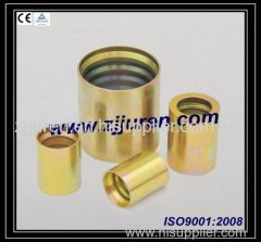 Hydraulic hose fitting ferrule for teflon ferrule 00TF0