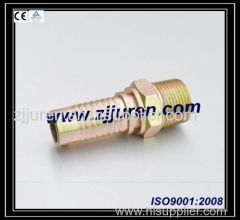 BSP Carbon Steel Hydraulic Pipe Fittings 12611 by CNC machine