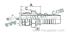 SAE High pressure carbon steel fitting 17811 by CNC machine