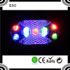 S90 Colorful 9LEDS Flashling Safty Warning Red Bicycle Tail Led Bike Light