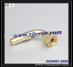 Metric female 24 degrees cone O-ring L.T. 20491 by CNC machine