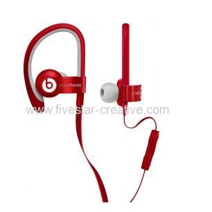Beats by Dr.Dre Red Powerbeats2 Wired In-Ear Sport Headphones for iPhone iPod iPad