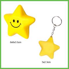 Star shape PU Foam Anti Stress Balls
