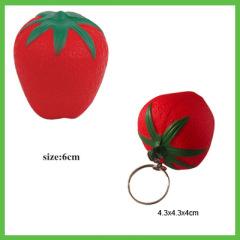 Anti stress Squeeze Toy Strawberry and Strawberry Keychain