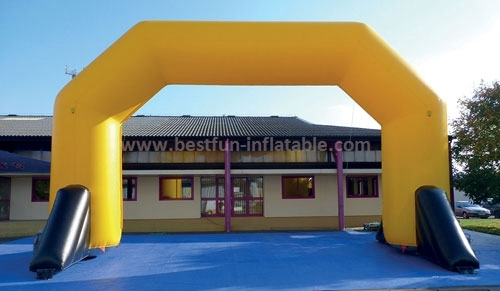 Advertising angle inflatable PVC sport archways