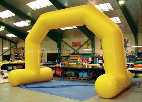 Custom inflatable PVC start and finish line angle arch