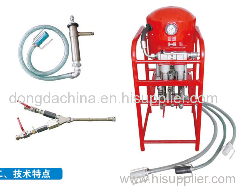 3ZBQS12/10 Mining Pneumatic double liquid grouting pump