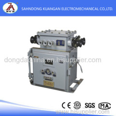 Explosion-proof and intrinsically safe vacuum electromagnetic starter